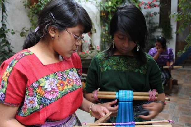 Weaving traditional Guatemalan belts