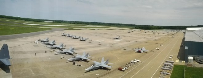 NAS Oceana F/A-18s on the Tarmac