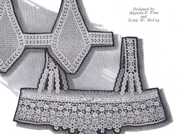 vintage crochet yoke fine crochet lace vintage 20s