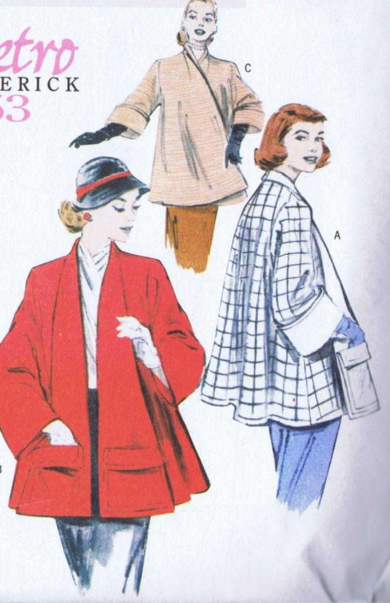 SOLD Butterick 5716 SEWING PATTERN Swing Coat Vintage LRG XLG XXL UNCUT