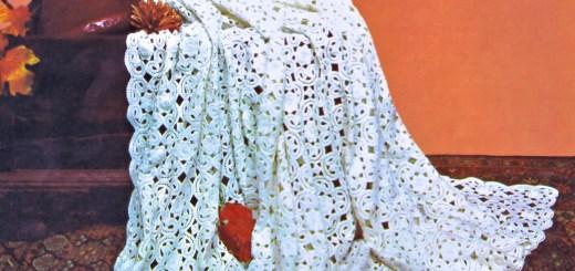 49 Crochet Irish lace bedspread 01