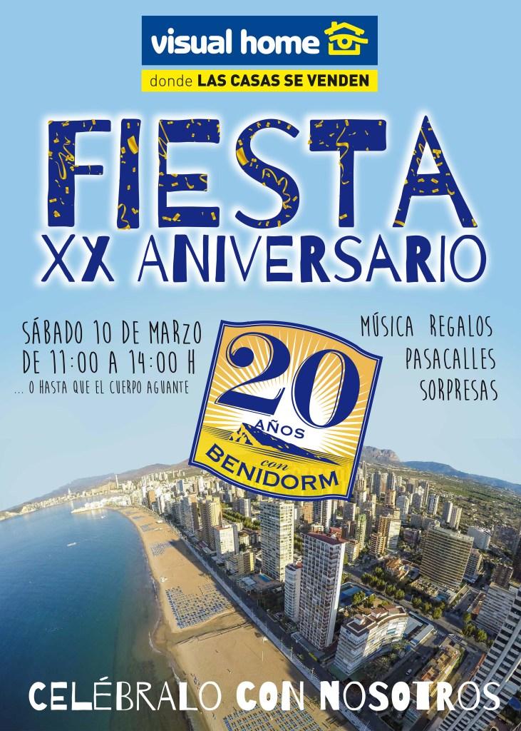 cartel fiesta 20 aniversario VH