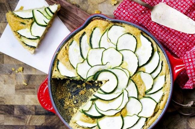 Paleo Skillet Zucchini Cornbread