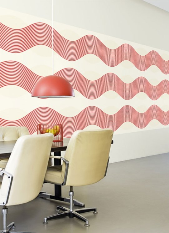 Noise Red Horizontal Striped Wallpaper - R1653