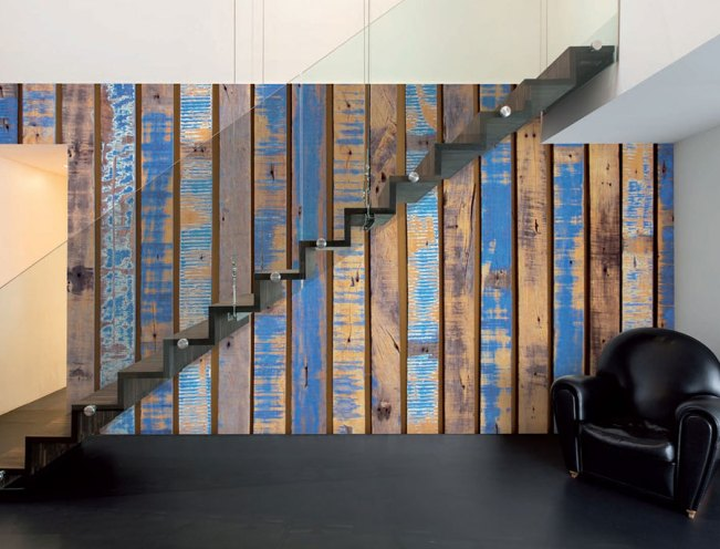 Azure Joists Wall Mural M8989
