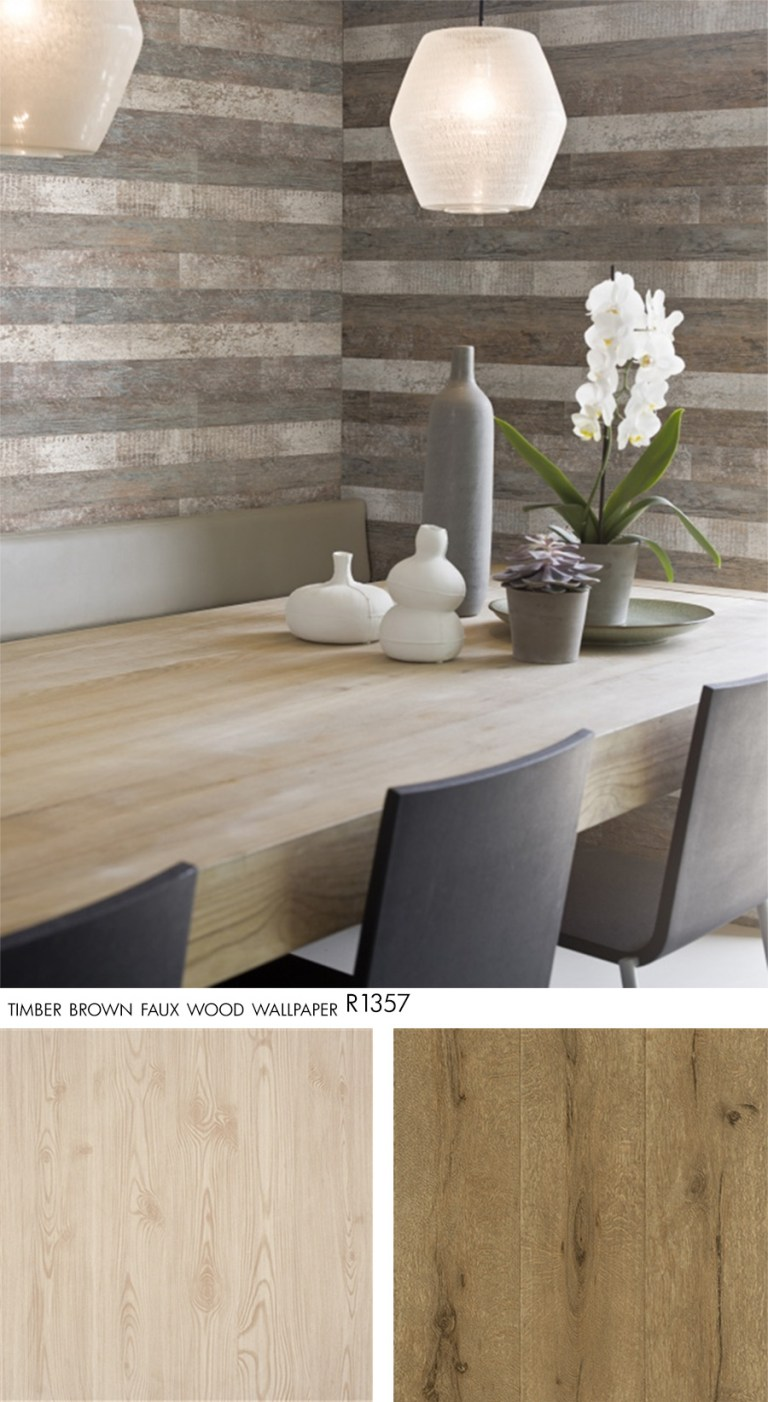 Tan Hardwood Faux Wood Wallpaper R2247, Russet Lumber Faux Wood Wallpaper R2346