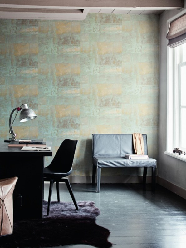 Henge Cool Grey Faux Brick Wallpaper R1428