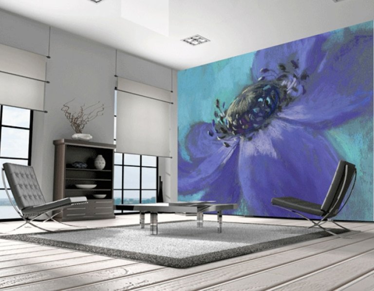 Soft and Sweet Floral Art Wall Mural M8595