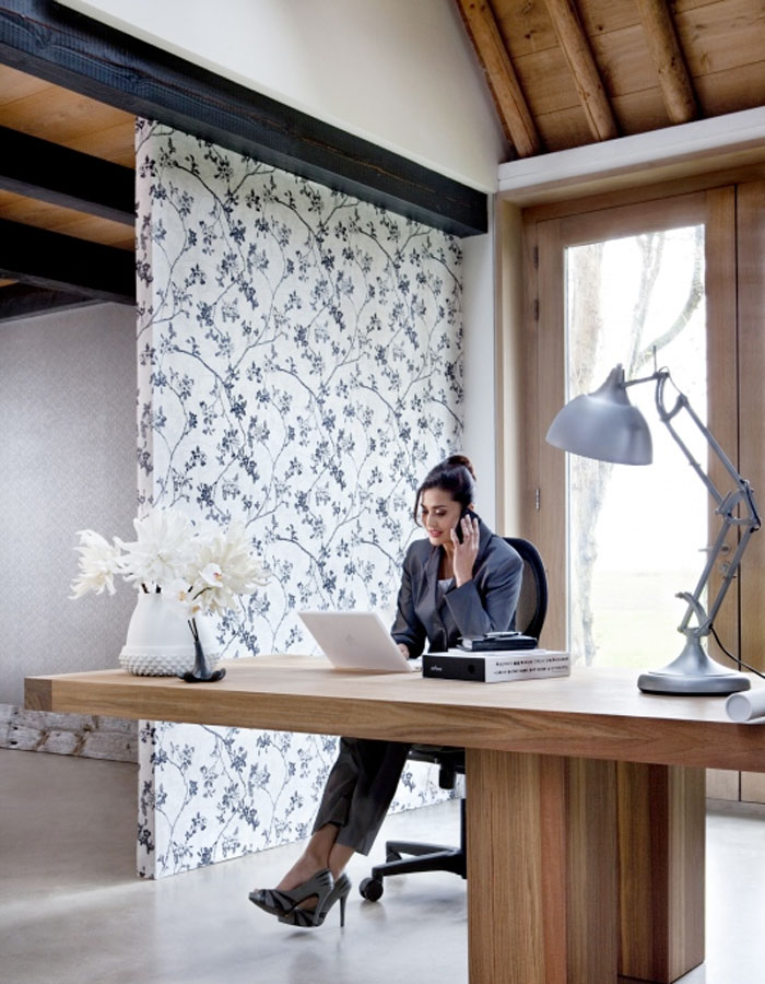Enchanted Black Home Office Wallpaper R1142