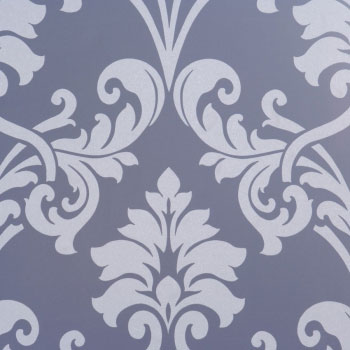 Miss Passion Lavender, Purple Damask Wallpaper R1461