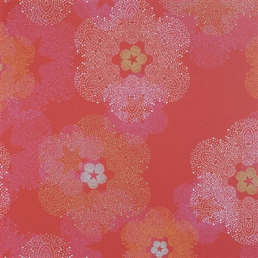 Floral Medallion Cardinal Red Wallpaper R1900