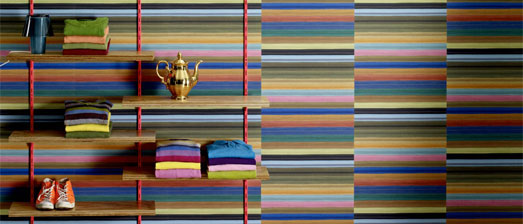 Rainbow Zipped Striped Wallpaper R2500