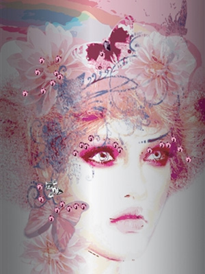 Pink Lady Girl's Wallpaper Mural M8878