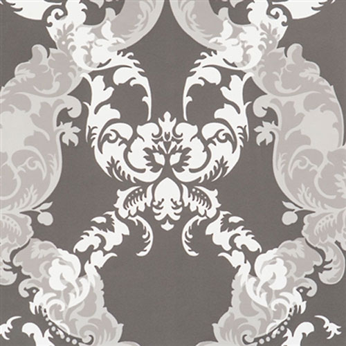 Grey Damask Wallpaper R2065