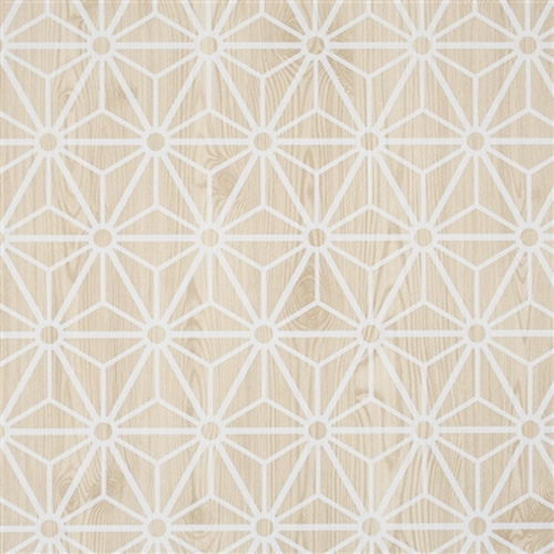 Tan Geometric Home Office Wallpaper R2244