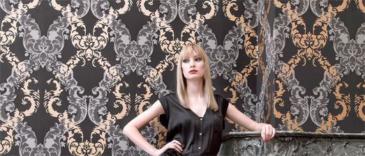 Gold Damask Colour Trend Wallpaper, R2067