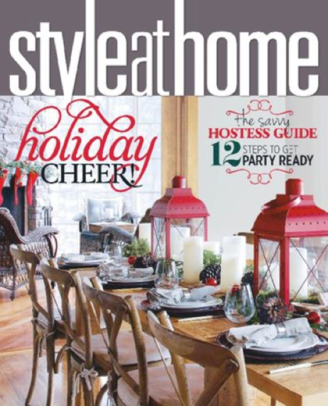 Style at Home Magazine – December 2014 High Low Feature