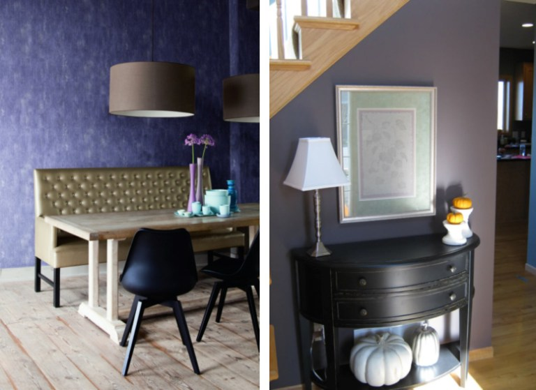 Paint Swatch vs. Plain Textural Wallpaper from Walls Republic R1424