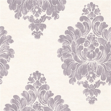 Walls Republic | Plum Weathered Damask Classic Wallpaper R3012
