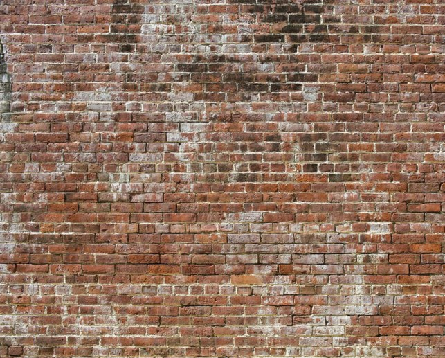 Historic Brick Old Aged Faux Brick Digital Home Wallpaper Mural M8994