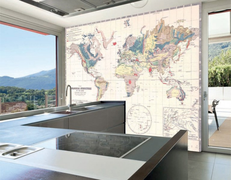 Interactive geological wall murals are a great addition to and gathering space. | Walls Republic M9169