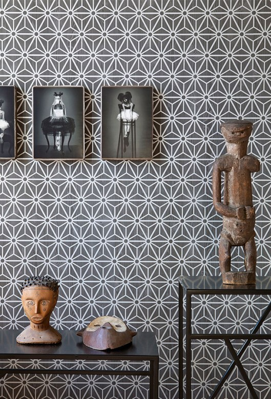 Grey geometric wallpaper by Walls Republic