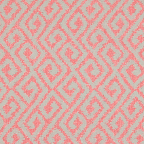 Coral bohemian bright geometric wallpaper by Walls Republic