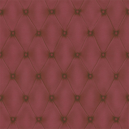 Faux Leather geometric wallpaper in Marsala Red
