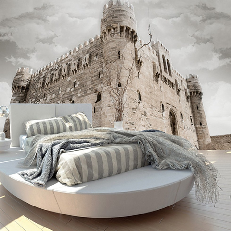 Lay down your fort with a wall mural. Alexandria castle historic architectural wall mural | Walls Republic
