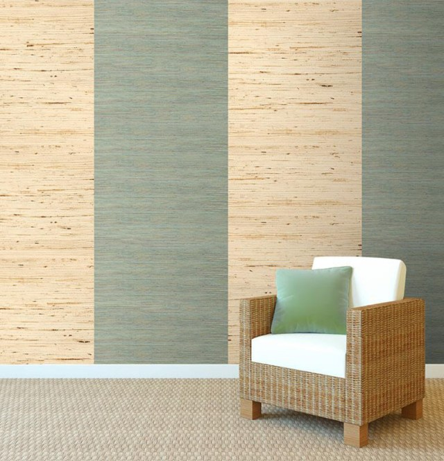 You can alternate arrowroot grasscloth wallpapers for pops of speckle and incomparable texture.