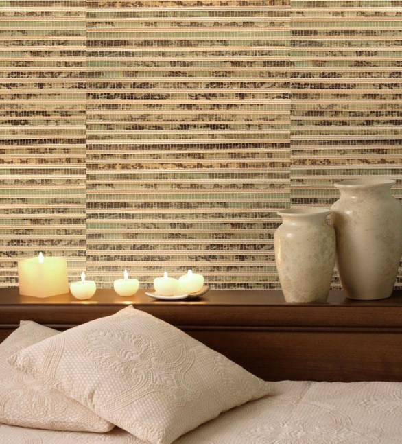 Bamboo grasscloth provides a one-of-a-kind finish that is natural with an originally organic ambiance.