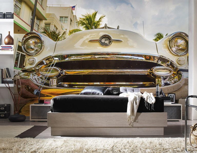 Are you a vintage car enthusiast? | Miami Car Mural by Walls Republic