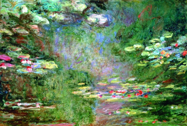 """Water Lilies"" by Monet Mural by Walls Republic"