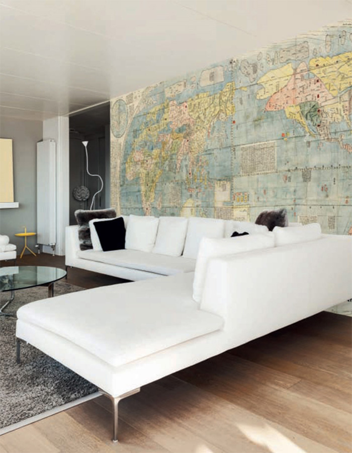 Wall murals give you a world of options to choose from. | World Map Mural by Walls Republic
