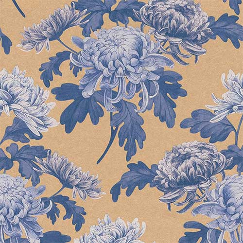 Royal Blue Vintage Blossoms R3032 | walls republic pantone rose quartz and serenity wallpaper