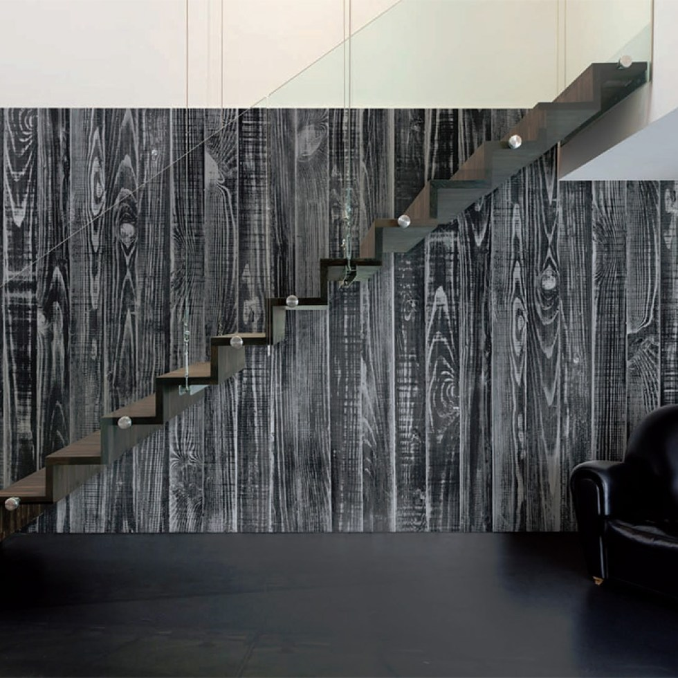 Black Stained Wallpaper Mural M8981
