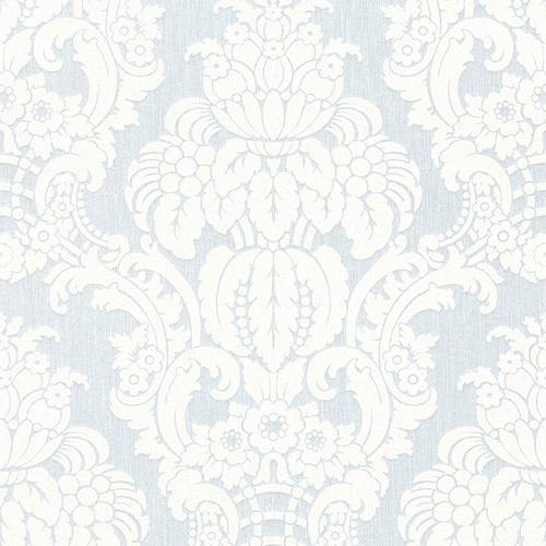 Cool Grey Grandiose Damask Wallpaper R3216