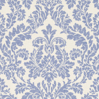 Dainty Faded Blue Damask