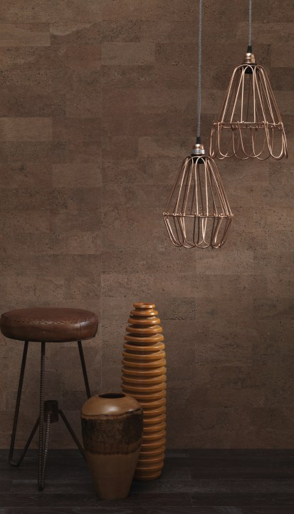 Retro Cork Brown and Black Wallpaper R2816