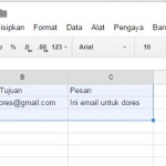 Cara mengirim email masal dengan Google Spreadsheet