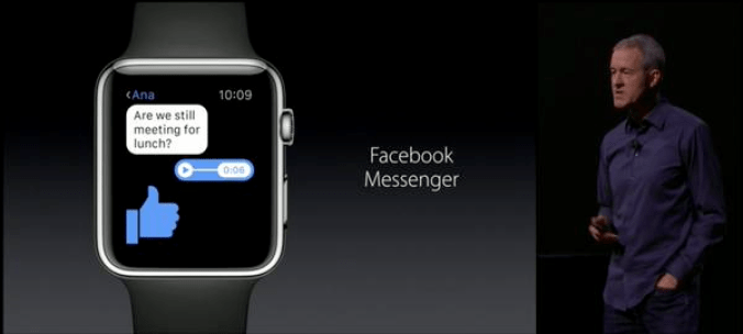 Facebook Messenger pour Apple Watch