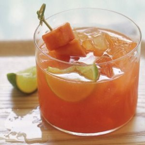 Papaya and Lime Agua Fresca