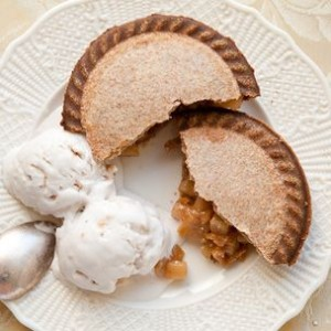 Pear-Almond Pies with Toasted Almond-Spice Ice Cream