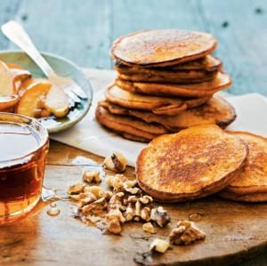 Sweet Potato Pancakes with Walnuts