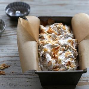 Vegan Toasted Coconut and Pistachio Ice Cream