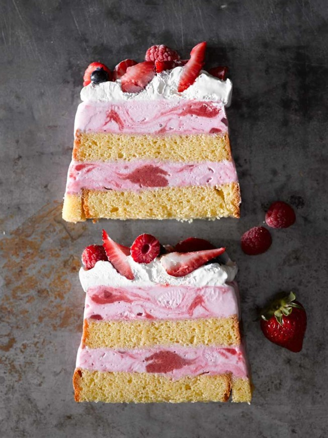 Very Berry Ice Cream Cake