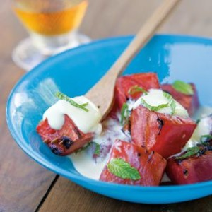 Watermelon with Mint Zabaglione