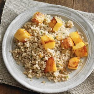 Bulgur Pilaf with Pumpkin and Raisins