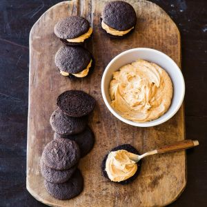 Chocolate-Peanut Butter Whoopie Pies