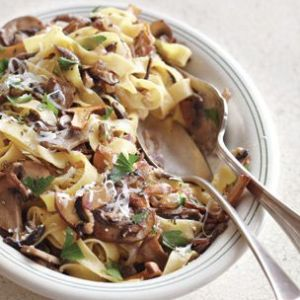 Fettuccine with Wild Mushrooms
